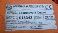 Attrezzatura agricola  Cuneo da Neve Argnani e Monti